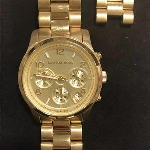 Michael Kors Gold Mid-Size Runway Watch MK5055